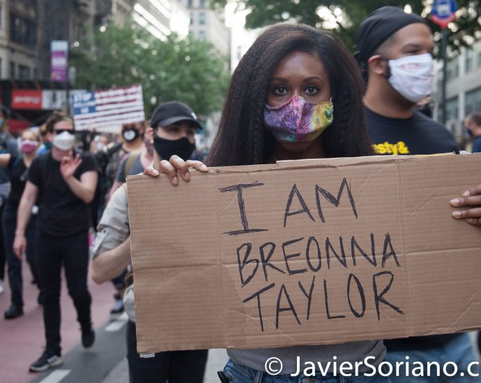 Tuesday, June 2, 2020. New York City – March from The Stonewall Inn to the Lower Manhattan to demand justice for George Floyd, Breonna Taylor, and too many others victims of police violence in the United States of America. Photo by Javier Soriano/www.JavierSoriano.com