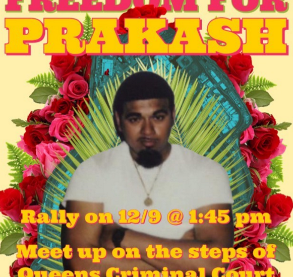 """Supporters of Prakash Churaman ask people to join them today, Wednesday, December 9, 2020, to protest """"the corrupt practices of the NYPD and the New York state criminal court system."""" People will gather in front of the Queens County Criminal Court at 1:45 PM. This is the address: 125-01 Queens Blvd, Queens, NY 11415. Train E to the station """"Union Turnpike – Kew Gardens"""". Image by the Instagram account: freeprakashchuraman"""